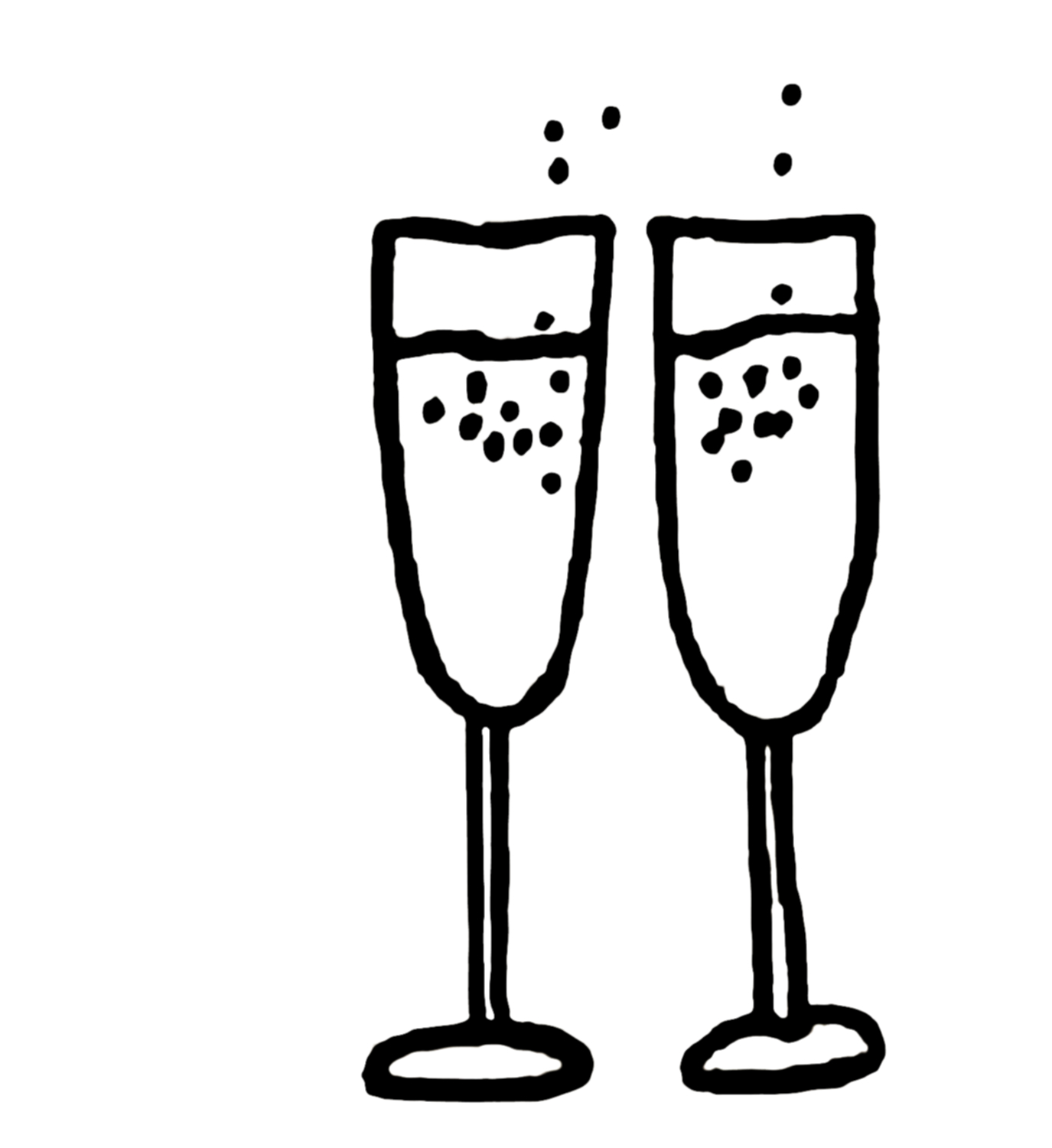 Silver clipart champagne glass  Flutes Champagne Clipart