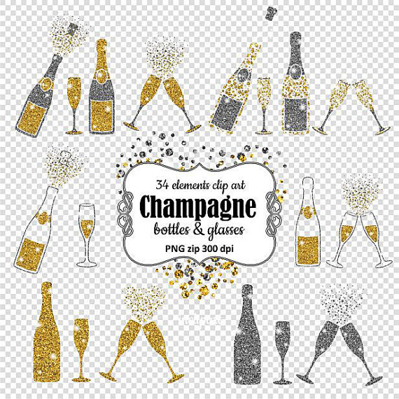 Silver clipart champagne glass File Bottles clip is &