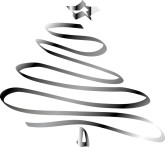 Silver clipart christmas tree Tree Metallic Results Line Swirls