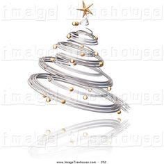 Silver clipart christmas tree Of ❤ Oak Festive White