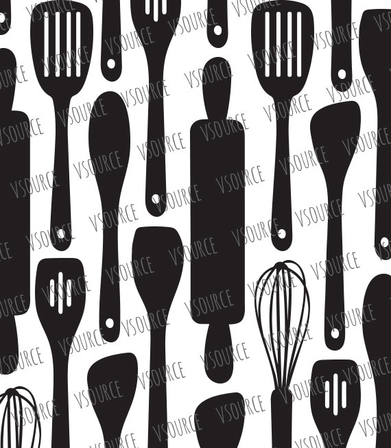 Silver clipart cooking spoon Clipart Kitchen Kitchen Clipart SVG