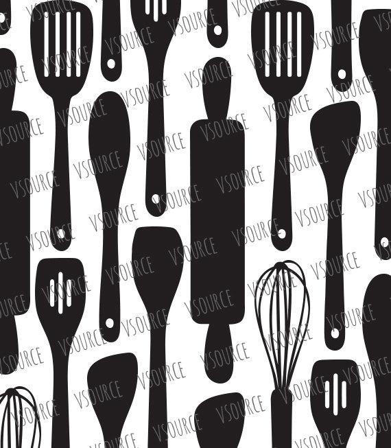 Silver clipart cooking spoon Kitchen Kitchen Bundle from Kitchen