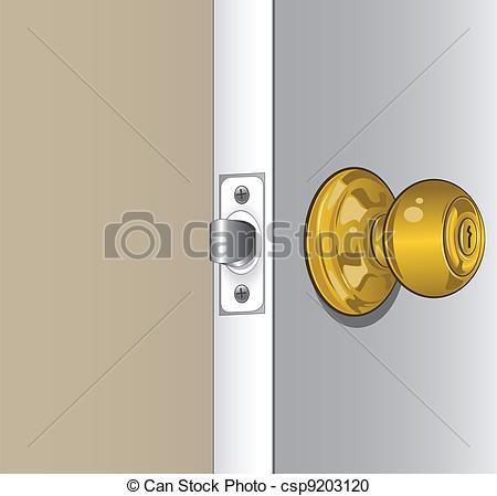 Silver clipart doorknob Detailed a  A Knob