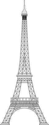 Silver clipart eiffel tower World structure the in tallest
