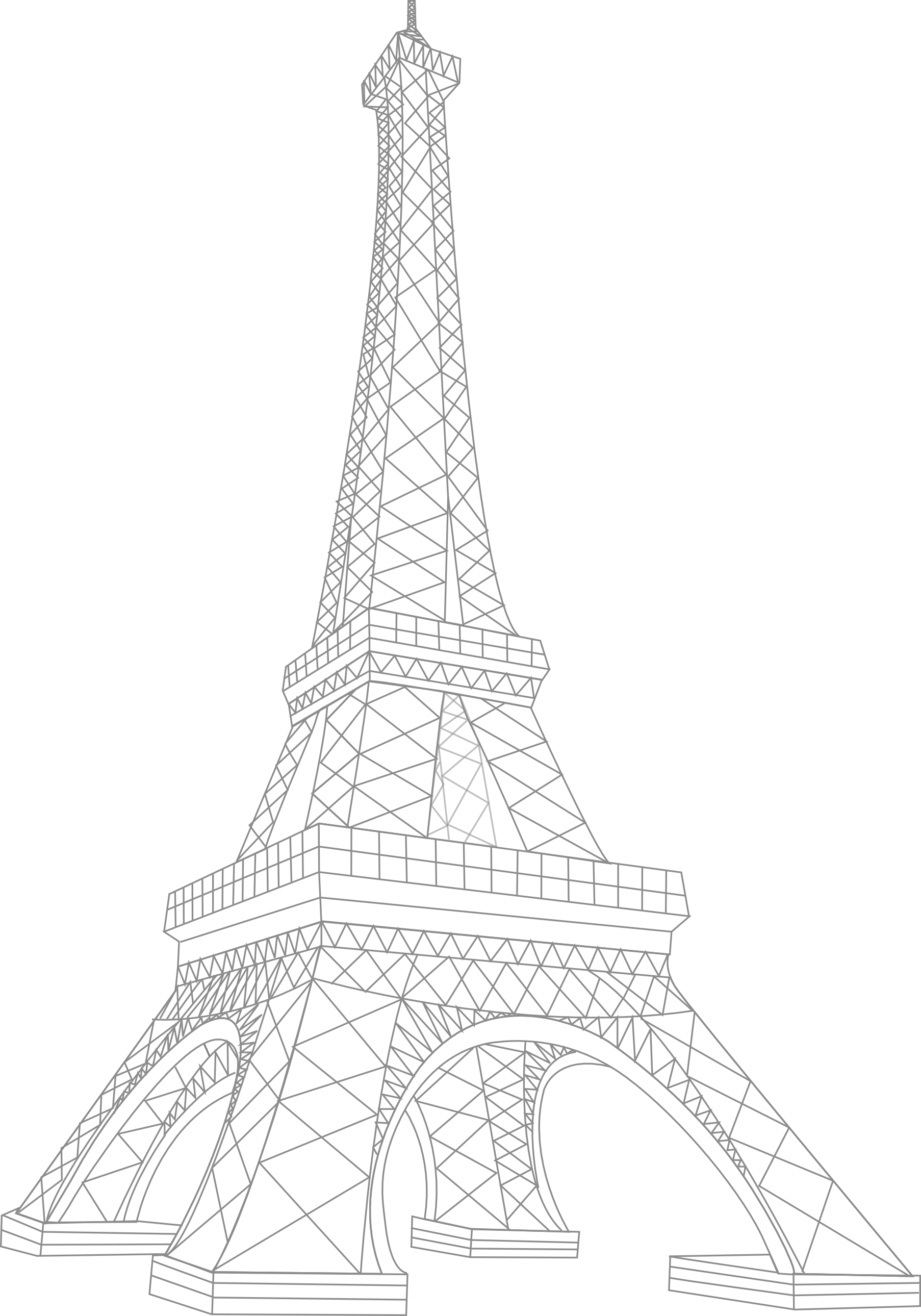 Silver clipart eiffel tower Collection clip clipart art tower