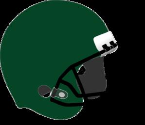 Silver clipart football helmet Art Dark com at Green
