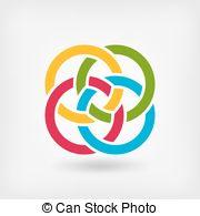 Silver clipart interlocking ring Clip eps Interlocked Illustrations