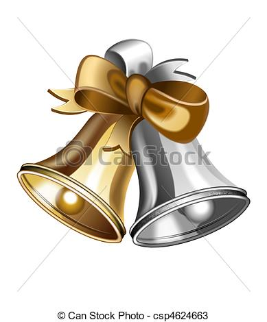 Silver clipart jingle bell Gold csp4624663 An Jingle and