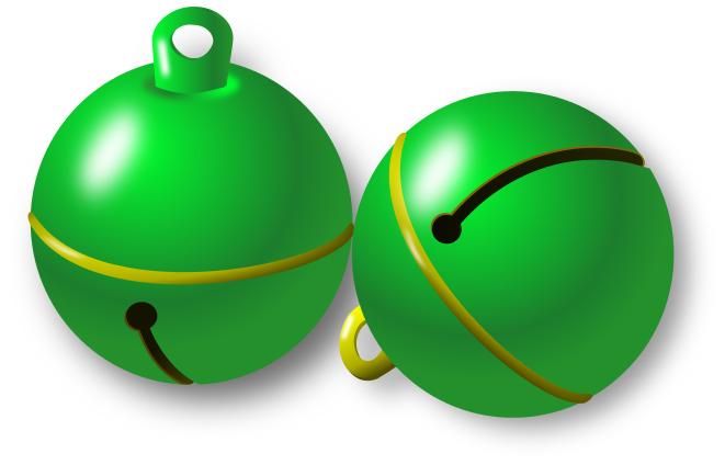Necklace clipart jingle bell Jingle Bells Bells Clip Green
