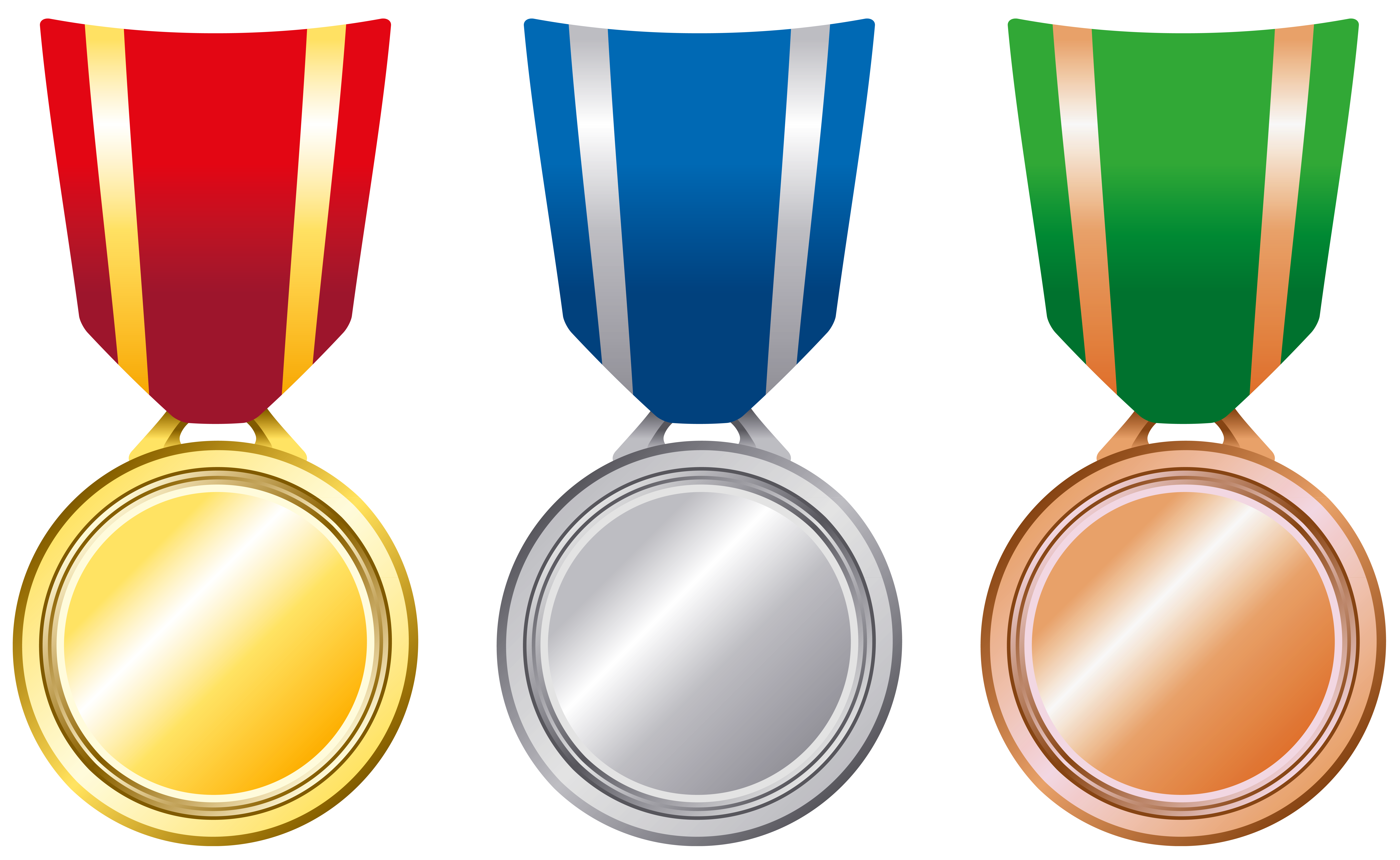 Silver clipart many medal Medals Bronze Transparent Gold View