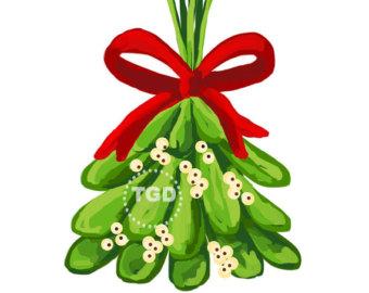 Silver clipart mistletoe Christmas Christmas clipart holiday clipart