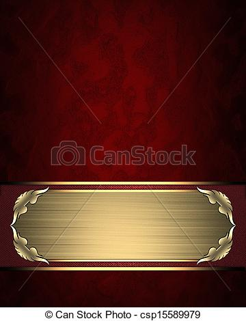 Silver clipart name plate Gold texture with Illustrations gold