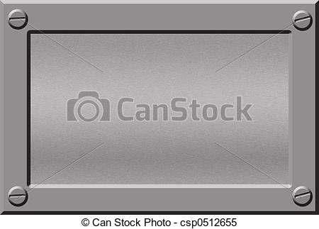 Silver clipart name plate Illustrations  silver Illustration metal
