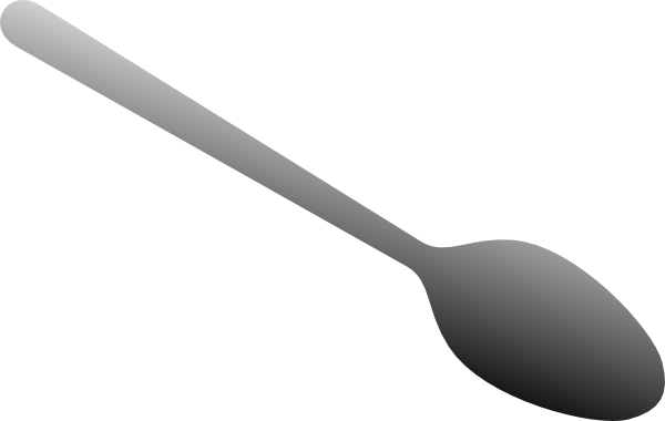 Silver clipart plastic spoon Clip Art Spoon The Cliparts