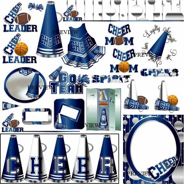 Stunt clipart blue cheer Pom Clip – Poms Clipart