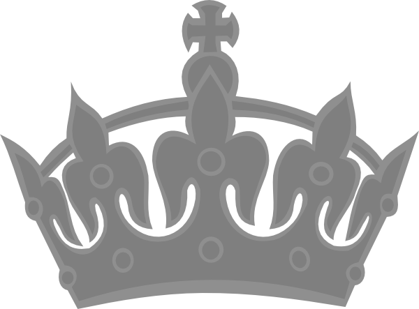 Silver clipart princess crown Royal Art Clip Silver Clker