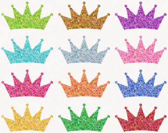 Silver clipart princess crown Crown Princess Glitter Crown Clip