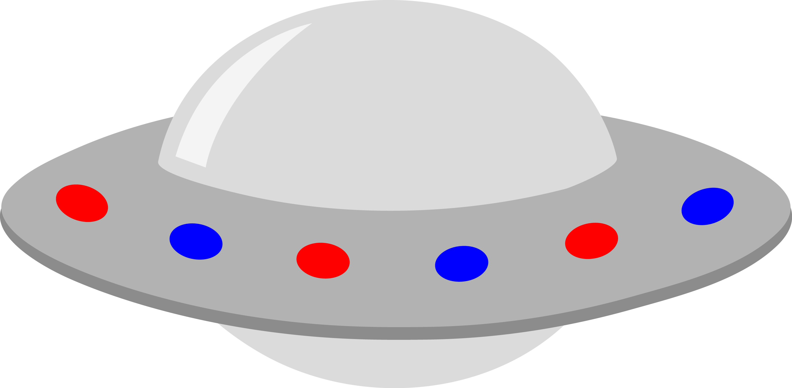Silver clipart round object Blue Red Silver Unidentified Lights