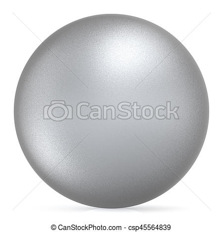 Silver clipart round object Object ball matted matted silver