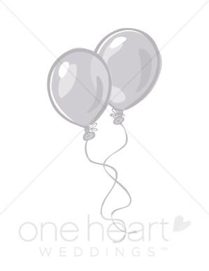 Silver clipart silver balloon Silver Silver Balloons Clipart Clipart
