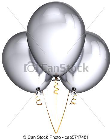 Silver clipart silver balloon White Silver csp5717481 balloons Silver