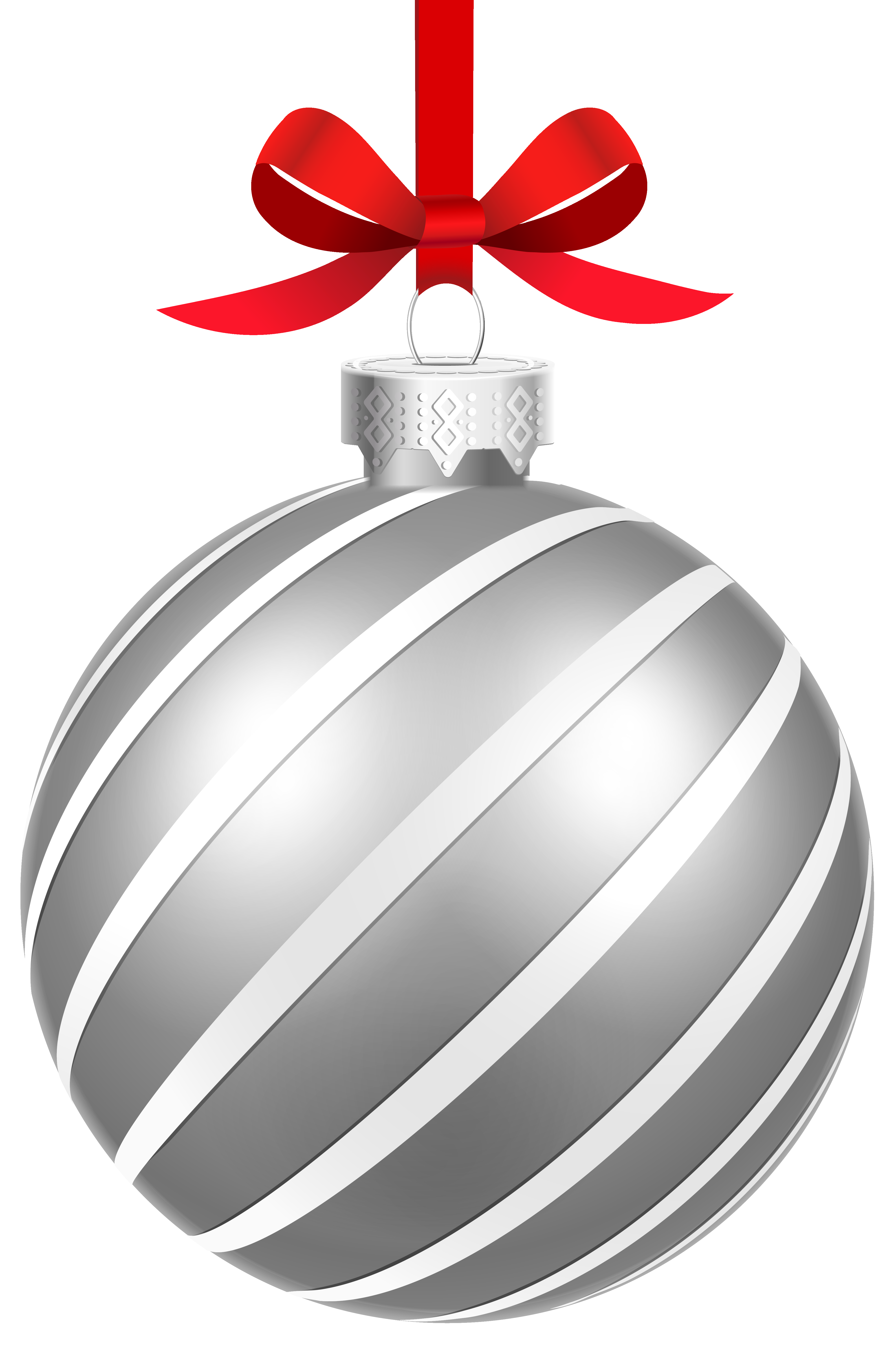 Silver clipart silver christmas Image size Striped Clipart full
