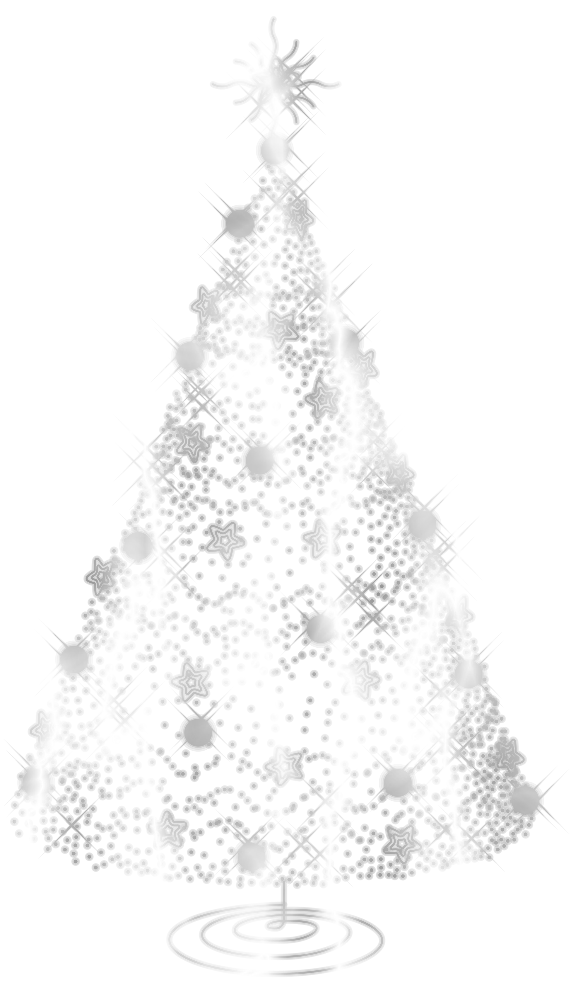 Silver clipart silver christmas Christmas Clipart Silver Tree