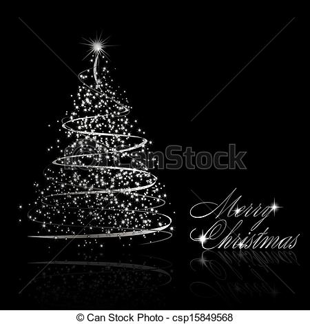 Silver clipart silver christmas Tree Abstract christmas on of