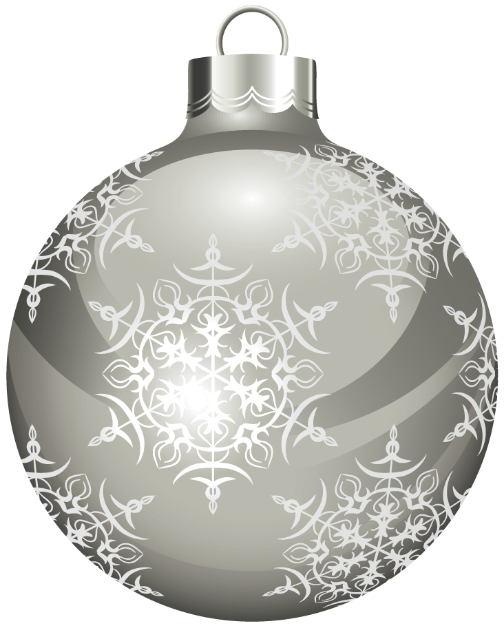 Silver clipart silver christmas  Ball full download Christmas