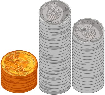 Coin clipart silver and gold Money art clip clip Coins