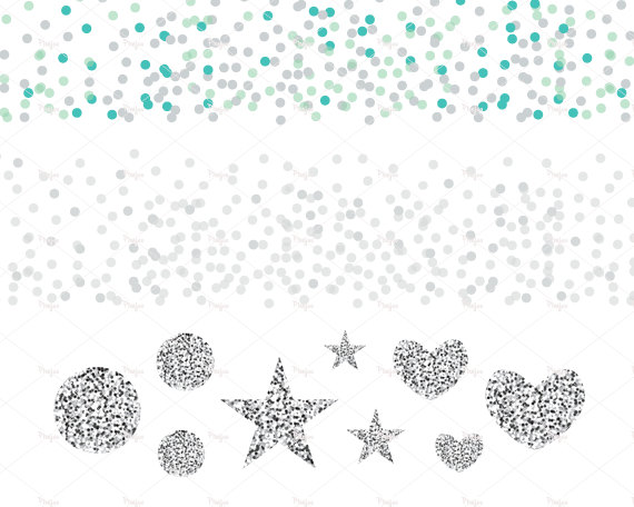 Silver clipart silver confetti PNG PNG // and Shapes