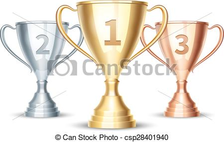 Silver clipart silver cup Gold bronze  winner cup