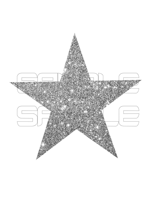 Silver clipart silver glitter star Star Glittery Gold Glitter Gold