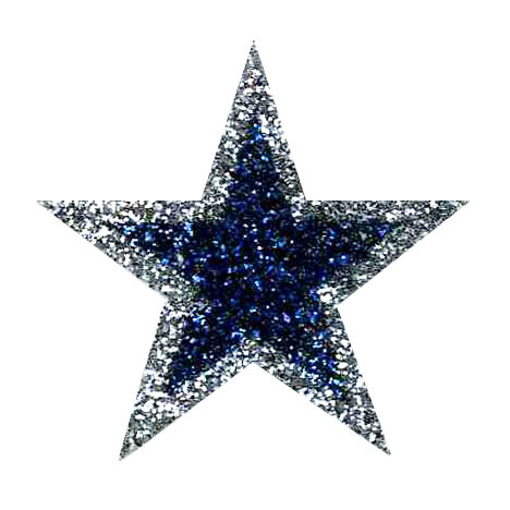 Silver clipart silver glitter star Stickers Silver with Glitter Outline