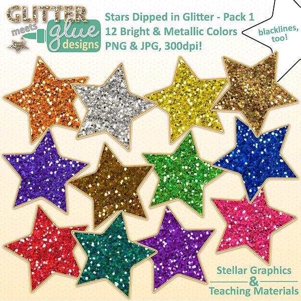 Silver clipart silver glitter star ALPHABET Glittery  Clipart SILVER