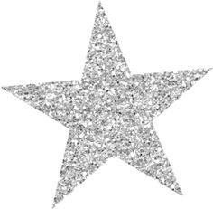 Silver clipart silver glitter star (54) GlitterStarfishSun Clipart Stars