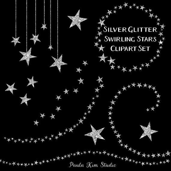 Silver clipart silver glitter star Silver Glitter Art Sparkling Star