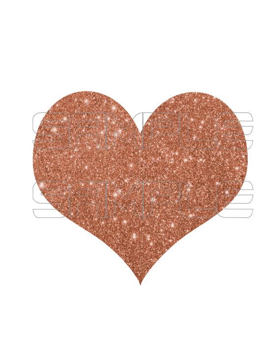 Hearts clipart silver glitter Digital is Heart file