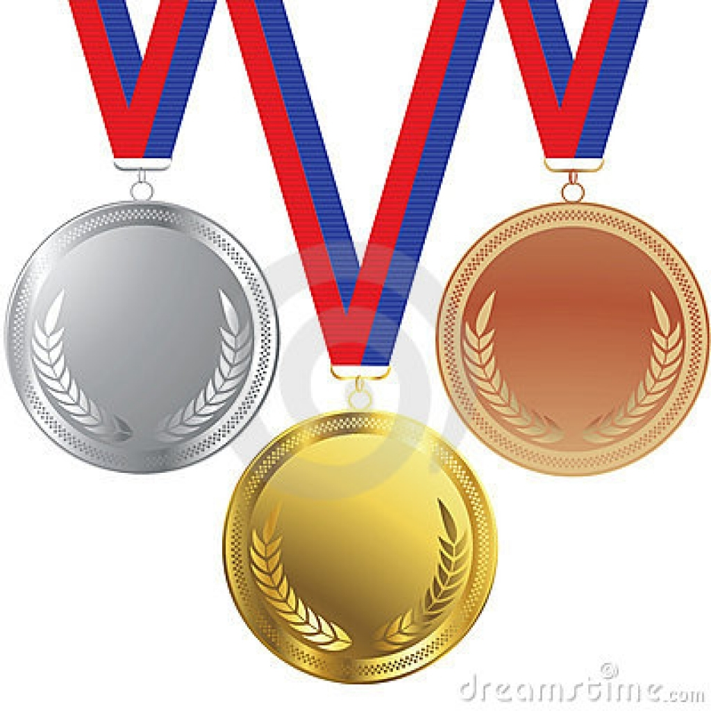 Bronze clipart Gold silver silver  medal