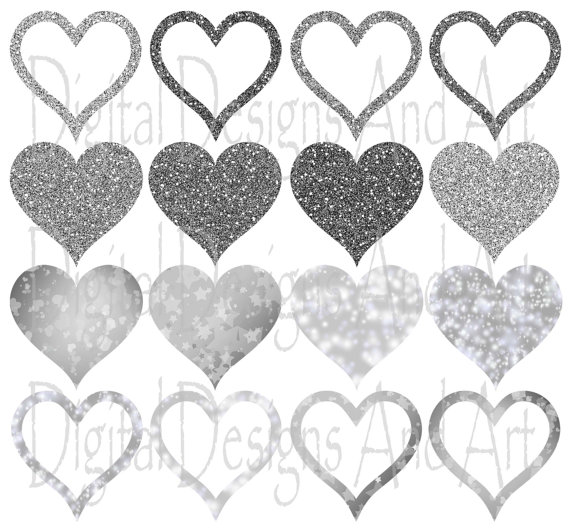 Hearts clipart silver glitter Clipart clipart Tags glitter from