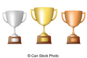 Bronze clipart Of Gold trophy Clipart