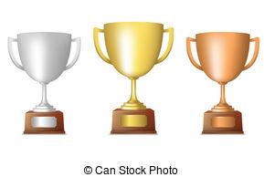 Trophy clipart bronze trophy Golden silver Gold silver Clipart