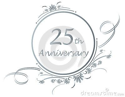 Silver clipart silver wedding anniversary Collection Art Anniversary Clip Floral