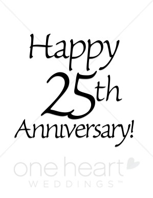 Silver clipart silver wedding anniversary Anniversary 25th Wedding wedding clipartsgramcom