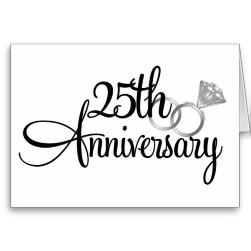 Silver clipart silver wedding anniversary 25th on this Art Art