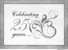 Silver clipart silver wedding anniversary · Photo anniversary 25th for