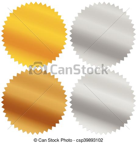 Silver clipart starburst Gold and silver platinum awards