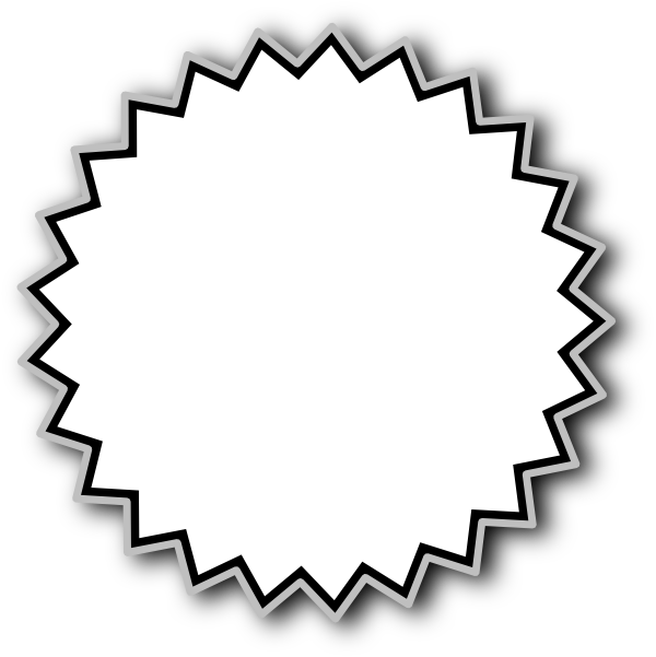 Silver clipart starburst Starburst Clipart Graphics Clip Free