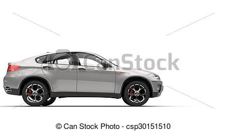 BMW clipart suv Silver SUV  csp30151510 Clipart