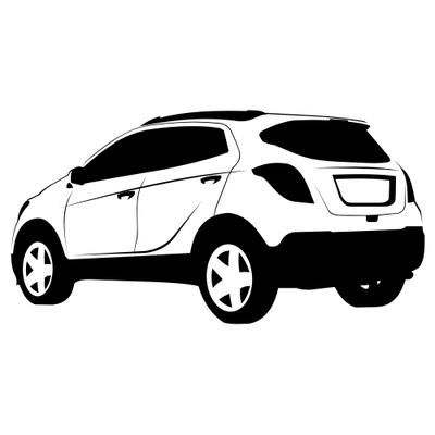 Silver clipart suv View White · Traced Side